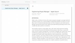 Apple Search の求人募集