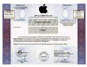 Apple株券